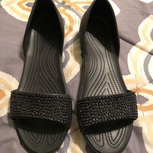 Women's Embellished Crocs Sandals (Sz. 11)